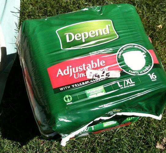 Depends Adjustable Diapers
