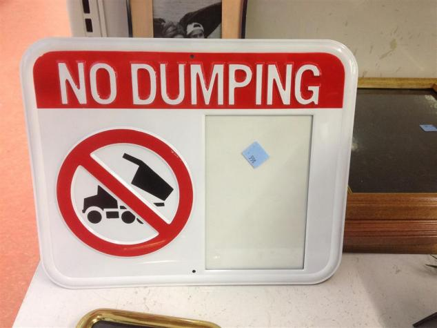 no-dumping-photo-frame